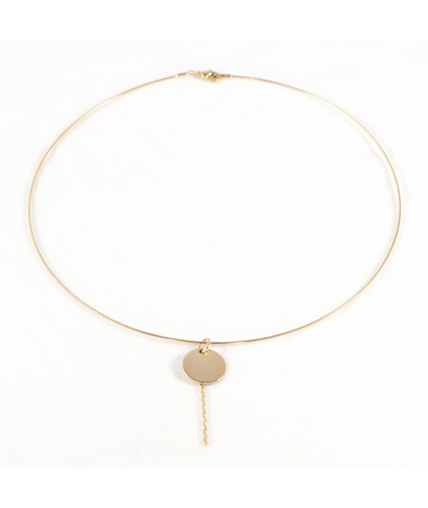 Collier rigide pampille