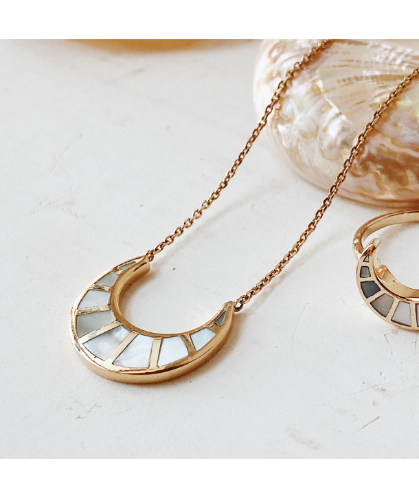 Collier Moon en nacre